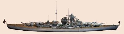 Battleship Bismarck Papercraft, Jerman