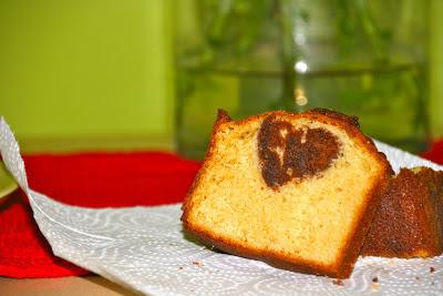 Pa de pessic de vainilla amb cor de xocolata