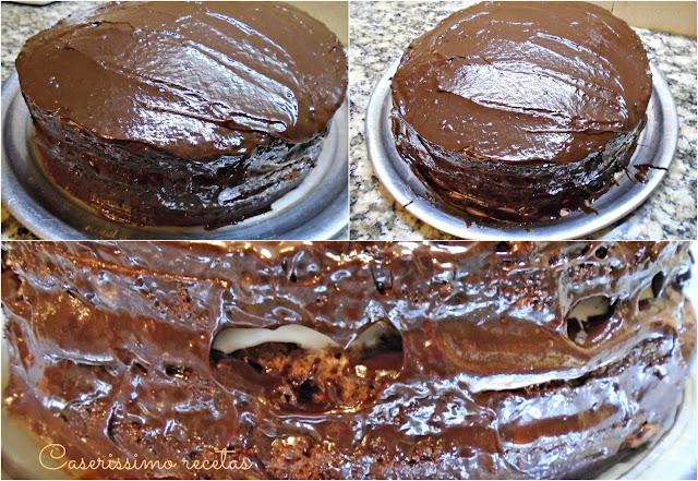 Torta De Cumpleaños Con Base De Chiffon De Chocolate