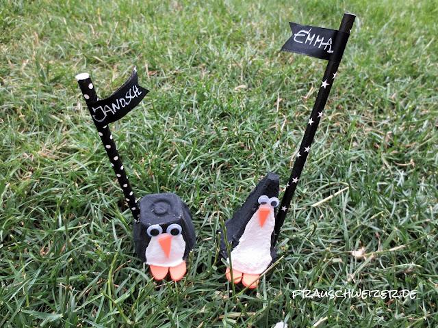 Pitsch Patsch Pinguin Platzkarten für Festlichkeiten 5