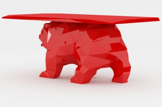Bear Shaped Unusual Coffee Table