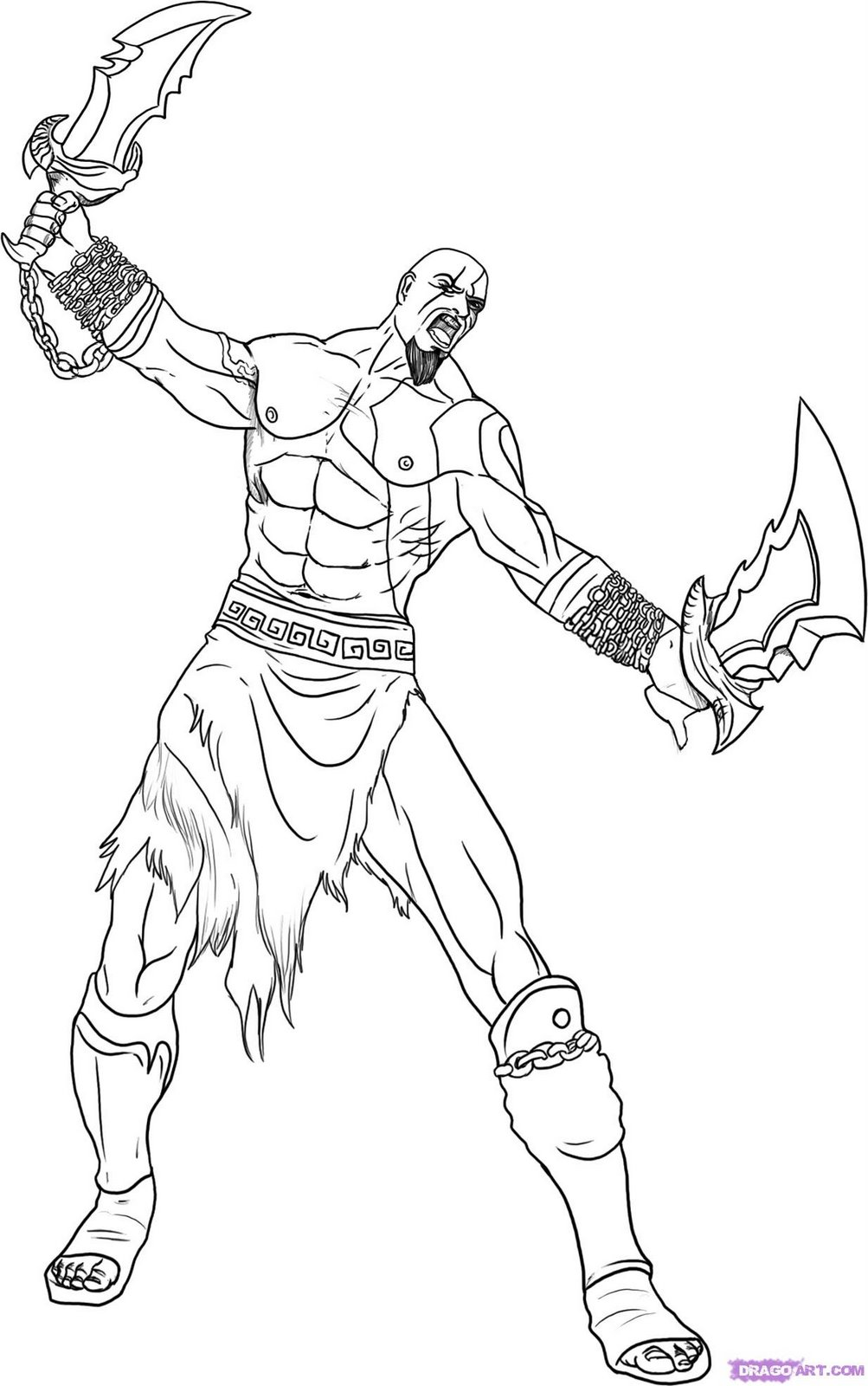 How To Draw Kratos From God Of War Step 6