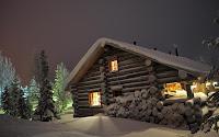 modelo de casa de madera de nieve