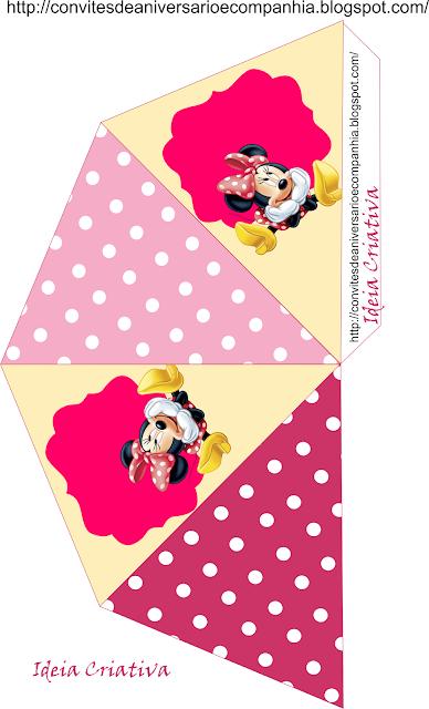 Cone 4 lados Minnie para personalizar