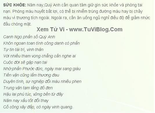 Boi Tu Vi Canh Ngo 1990