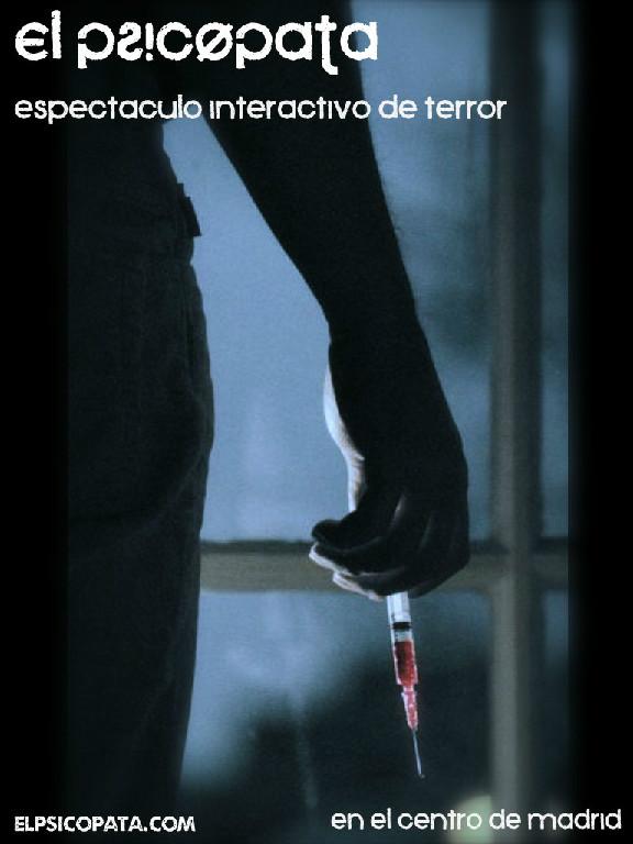 Poster de 'El Psicópata: La venganza', nuevo show de terror interactivo