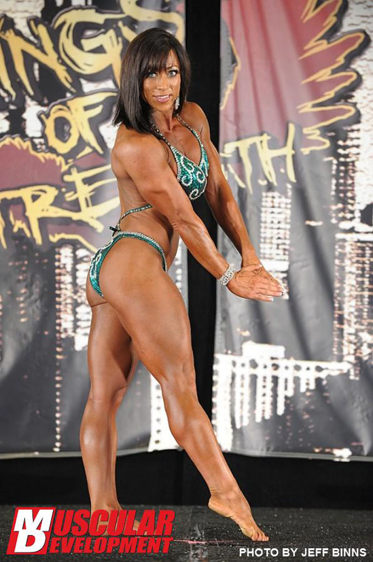 Trina Thompson Flexing Her Ripped Muscles At The 2012 Wings Of Strength