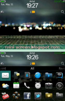 Green Battery Free Theme (also for Blackberry Curve): Beautiful Interface