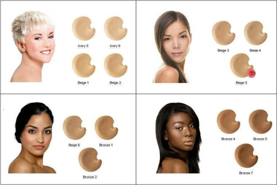 Temos bases para qualquer tipos de pele e de ersas tons