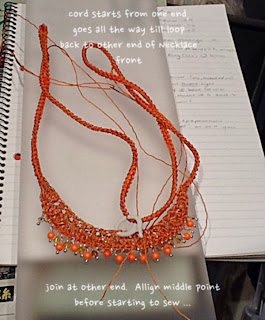 making crochet cord for necklace