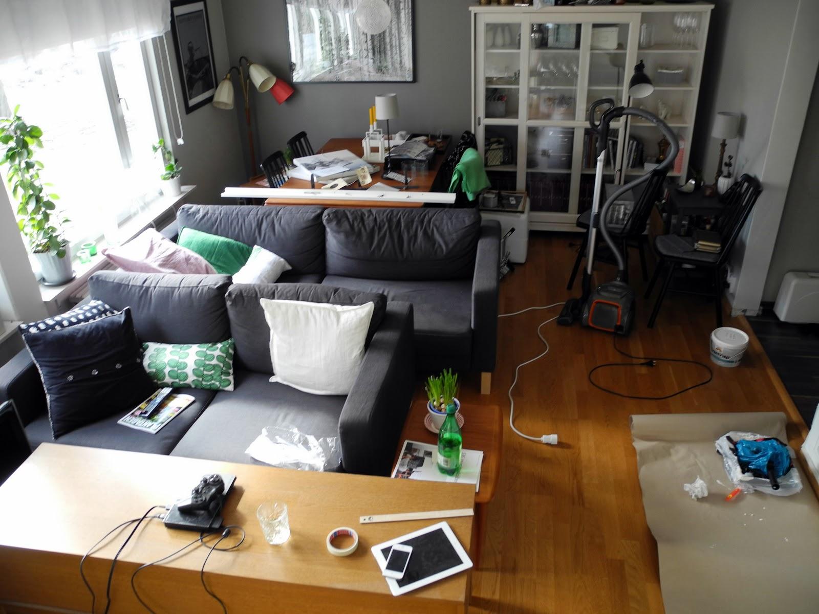 2 systrar inreder: vardagsrum före & efter