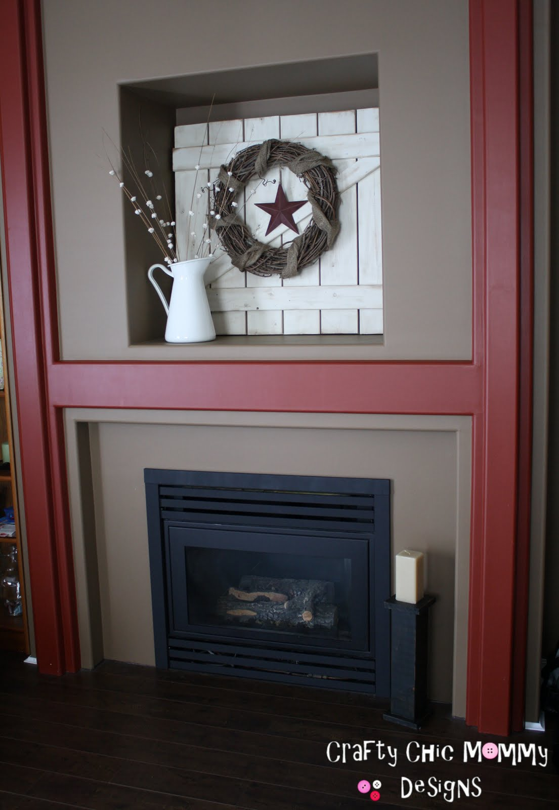 crafty chic mommy brass fireplace redo