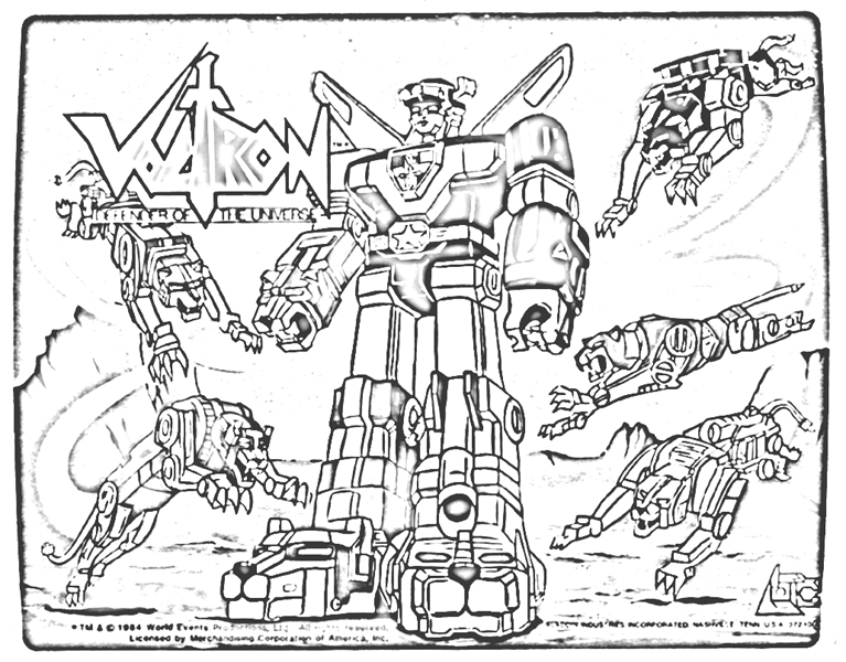 Image Voltron Coloring Printables Download Voltron Coloring Pages
