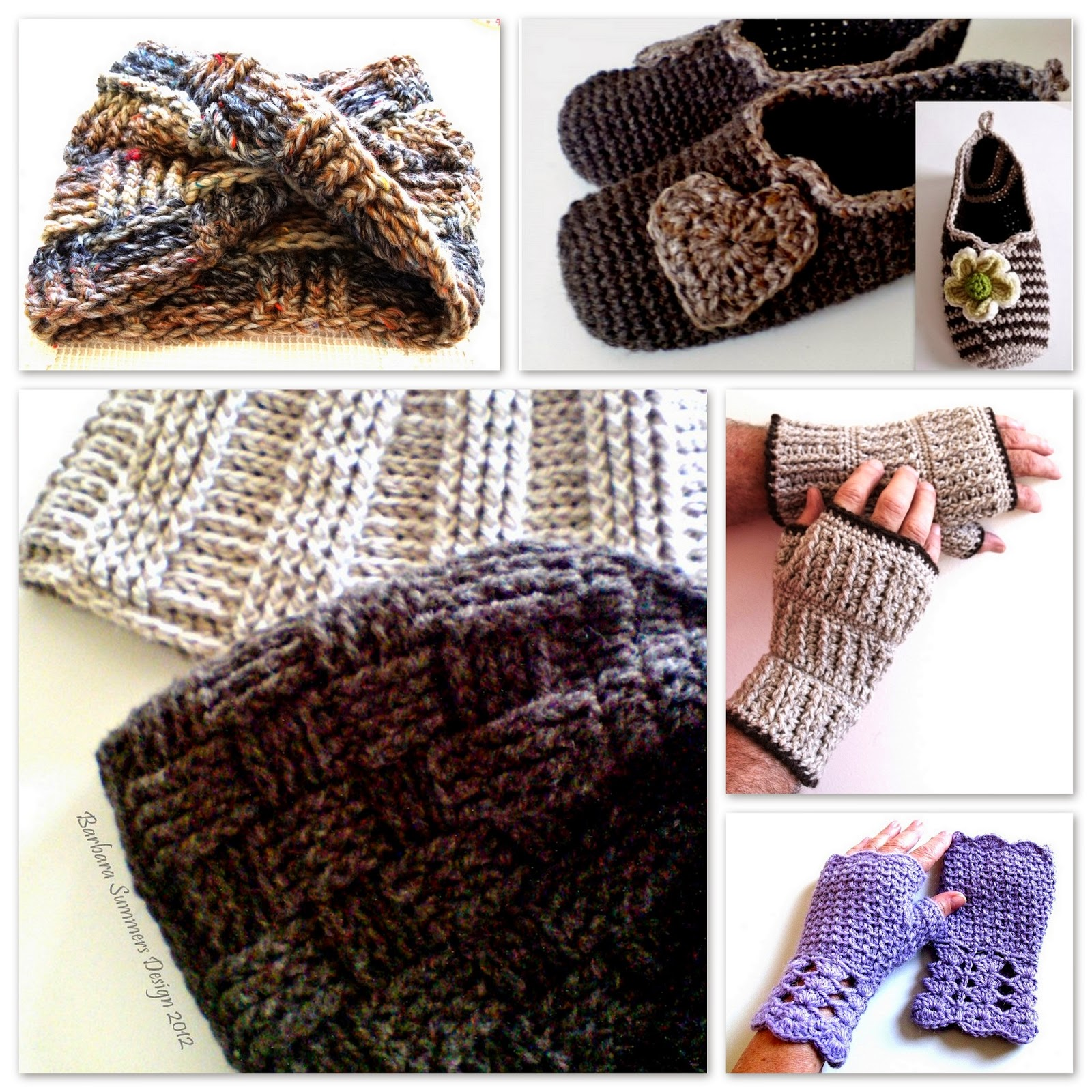 Crochet Patterns Gifts : crochet patterns, how to crochet, hats beanies, mittens, slippers ...