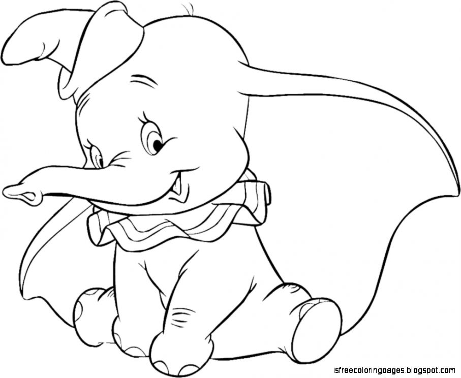 Dumbo Elephant Drawing Dumbo Elephant Coloring Pages
