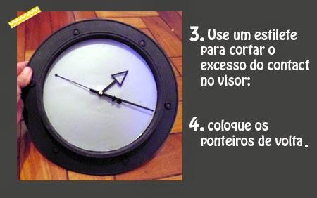 relógio de parede, faça você mesmo, diy, artesanato, craft, washi tape, decor tape
