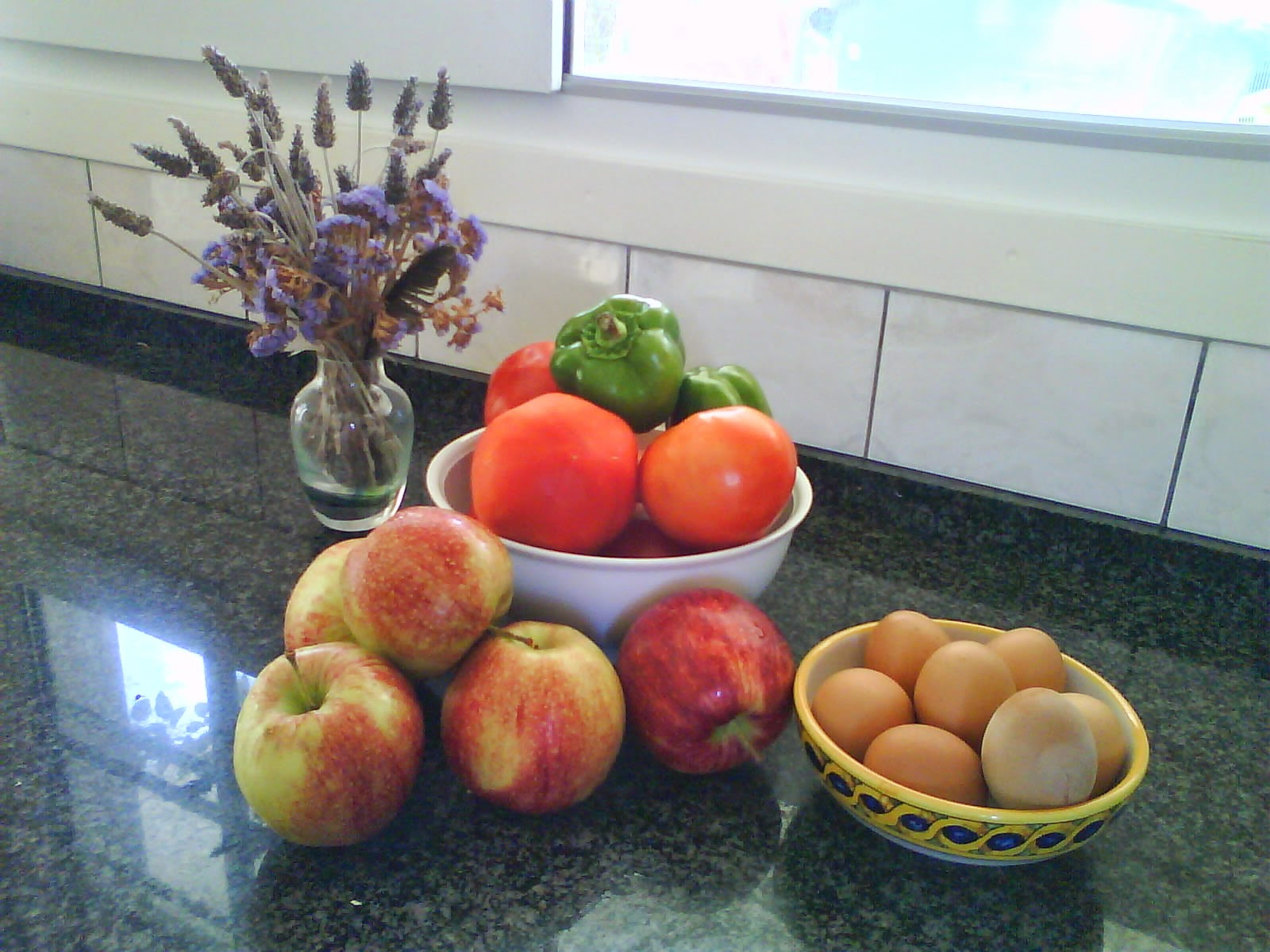 Fresh fruit, veg and eggs