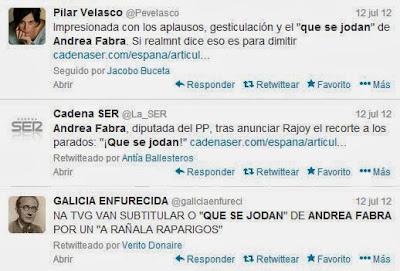 """Andrea Fabra dedicó un """"que se jodan"""" a los parados"""