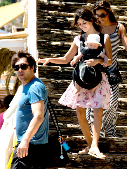 Penelope Cruz And Javier Bardem Debut Their Little Man With Eva Longoria