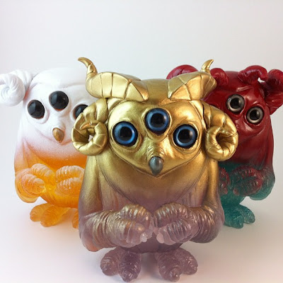 The Great Horned Scowl Resin Figure by Motorobt