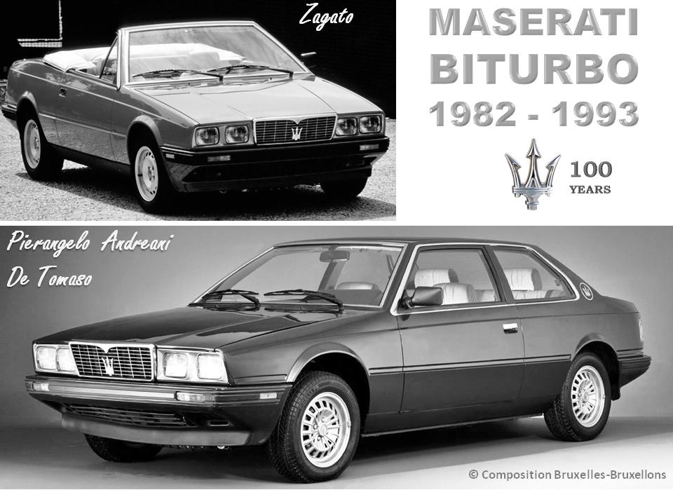 MASERATI 100 YEARS - AUTOWORLD BRUSSELS -  Maserati BITURBO - 1982-1993 - Design Pierangelo Andreani (De Tomaso) - Bruxelles-Bruxellons