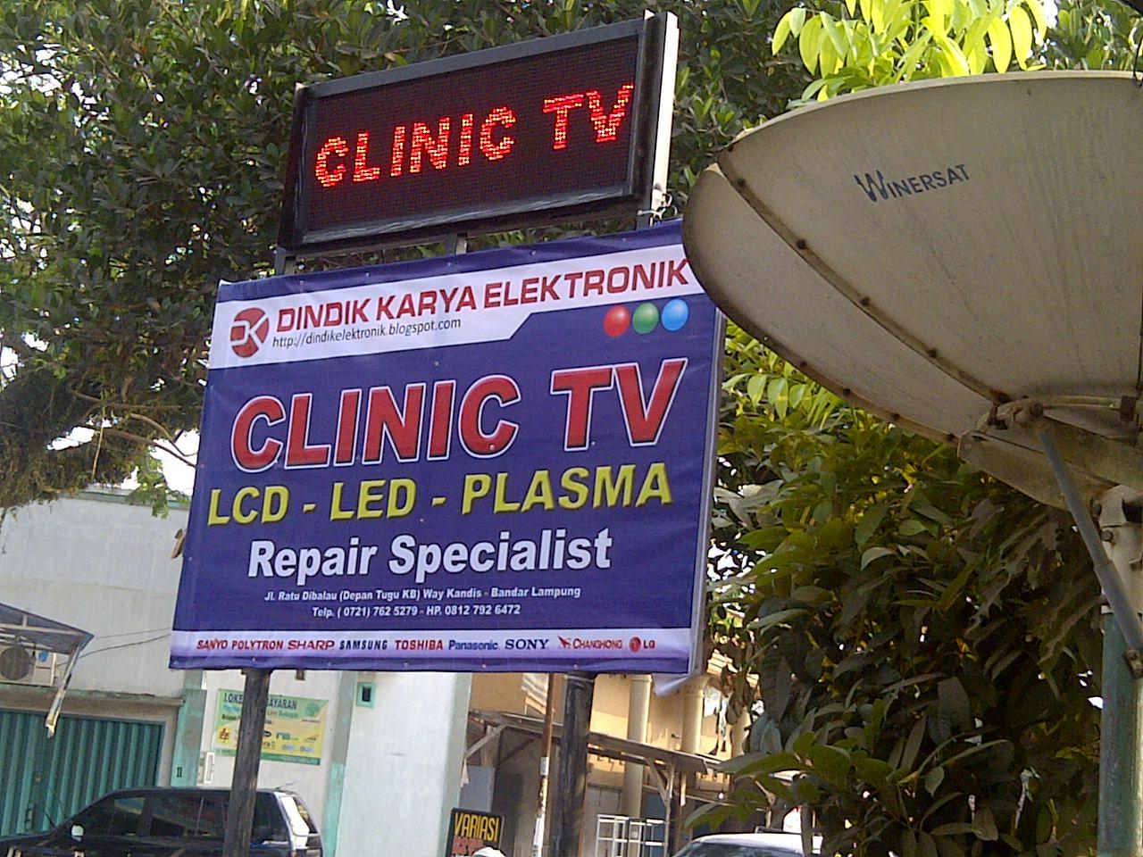 CLINIC TV LCD LED LAMPUNG SERVICE TV LCD LED PLASMA