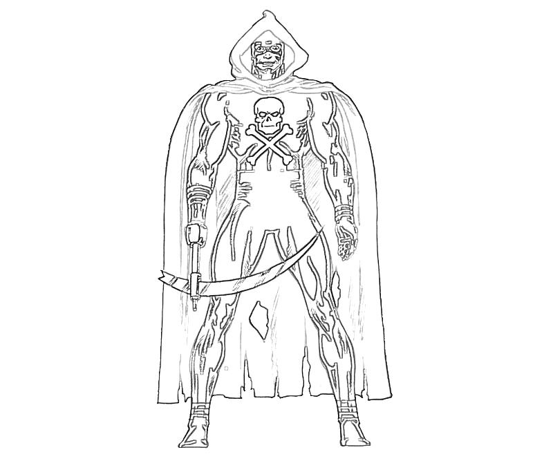 Cool Grim Reaper Coloring Pages Grim Reaper Coloring Pages To Print