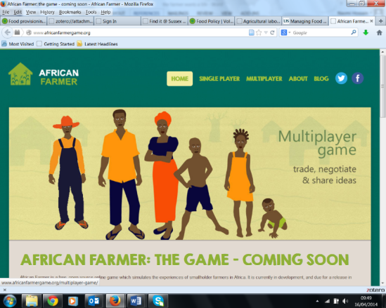 Screen shot of the African Farmer
