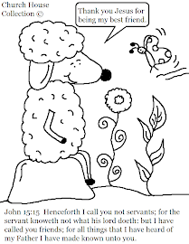 John 15:15 Sheep Coloring Page For Kids