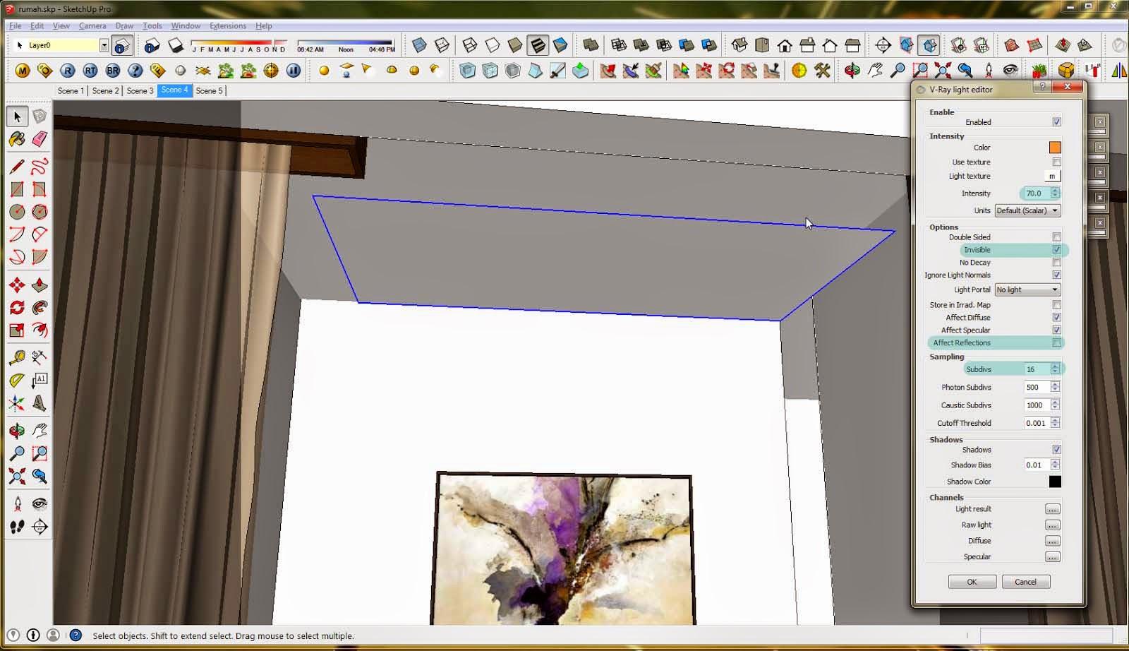 Tutorial Pencahayaan Vray Sketchup
