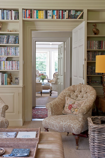 Built in book cases add character to home an american for French country blog