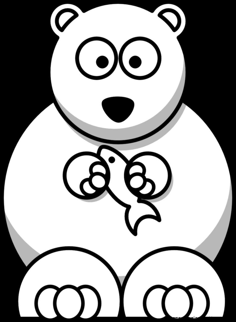 Polar Bear Clip Art Black And White  Clipart Panda   Free Clipart