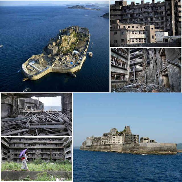 predios abandonados, restos da população, tornam essa ilha bizarra