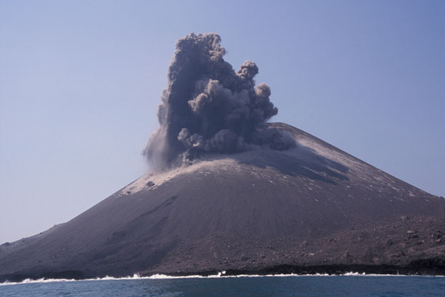 Mount Anak Krakatau Eruption Indonesia