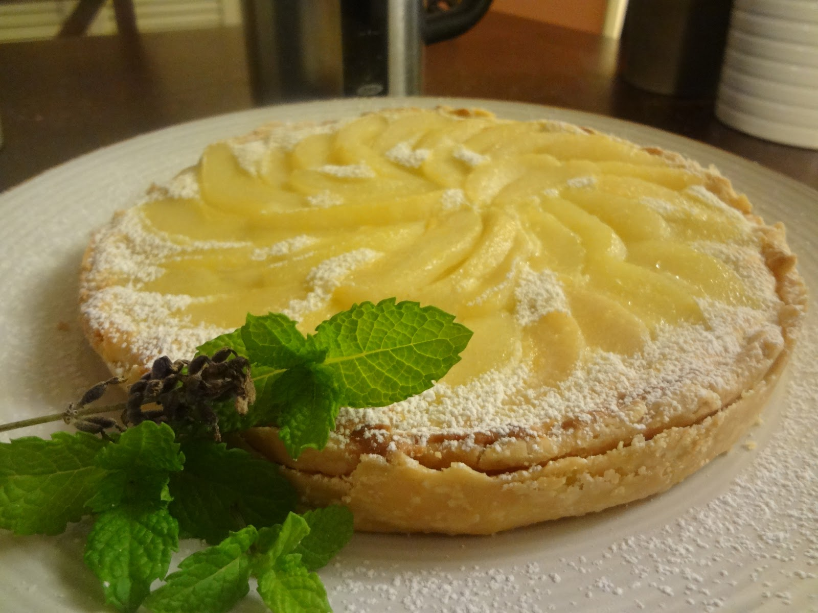 Normandy Pear Tart Recipe — Dishmaps