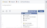 facebook paylaşımlarınızı herkese açık yapma