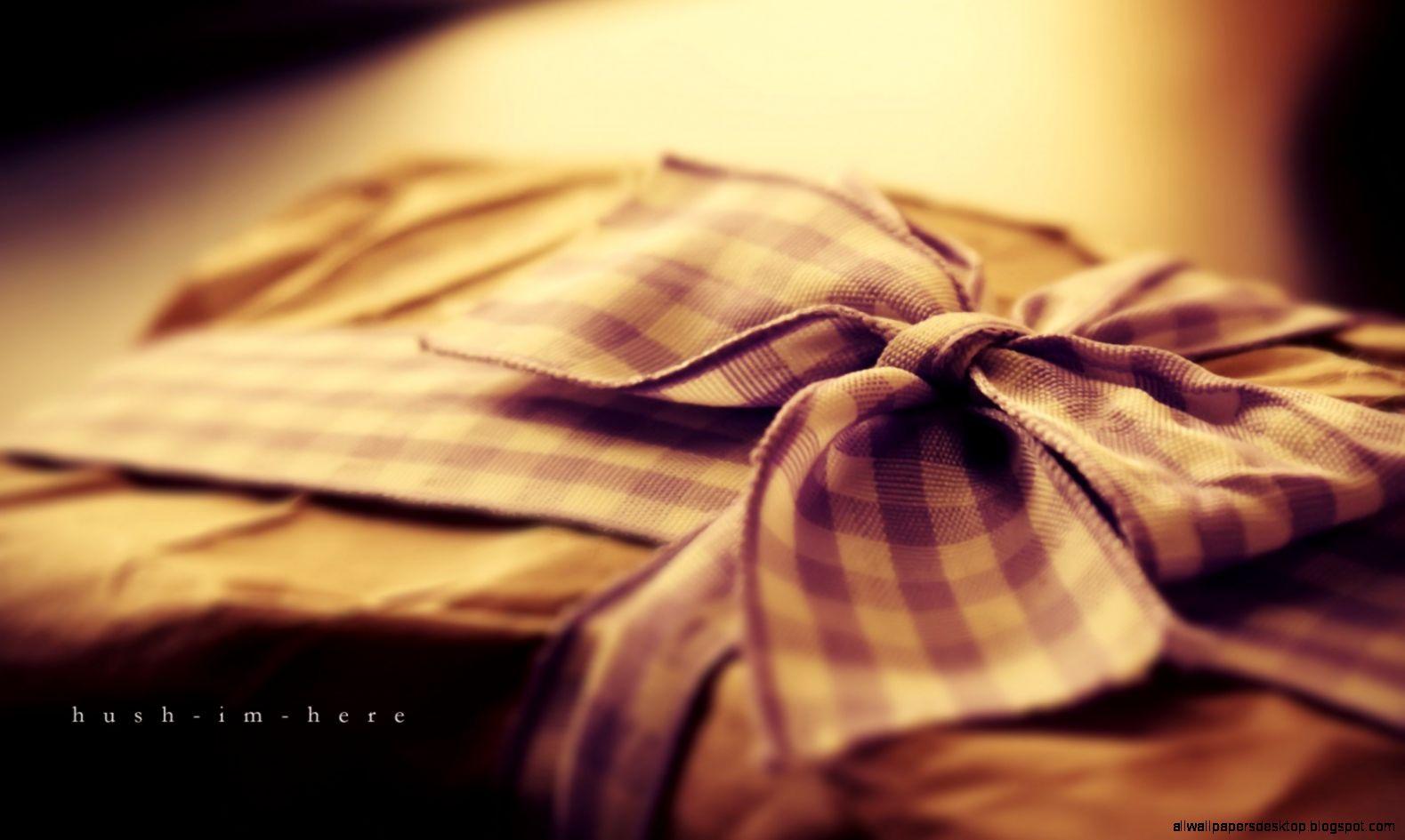 Ribbon Bow Gift Hd Wallpaper