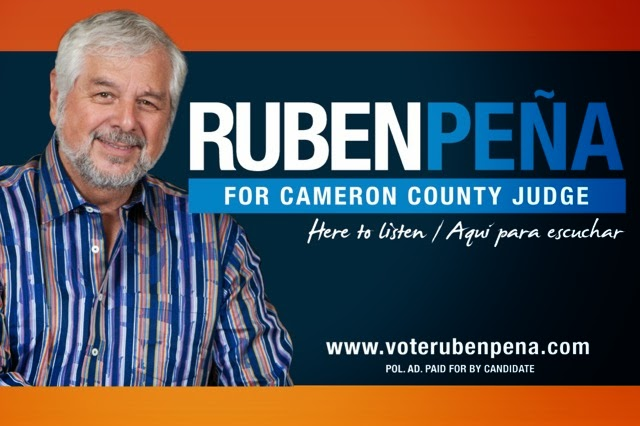 RUBEN PENA FOR COUNTY JUDGE; HERE TO LISTEN