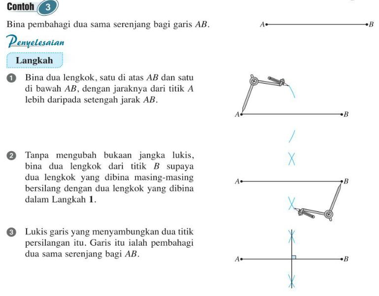 Puan Matematik Tingkatan 2 7 1c I Membina Pembahagi Dua Sama Serenjang