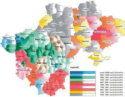 Pib-ul pe cap de locuitor în România și la vecini