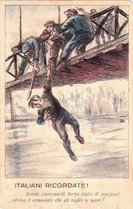 L'assassinio di Giovanni Berta in un manifesto fascista del 1921