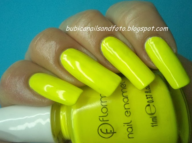 665 Flormar Neon Yellow Nail Polish 420 Nails