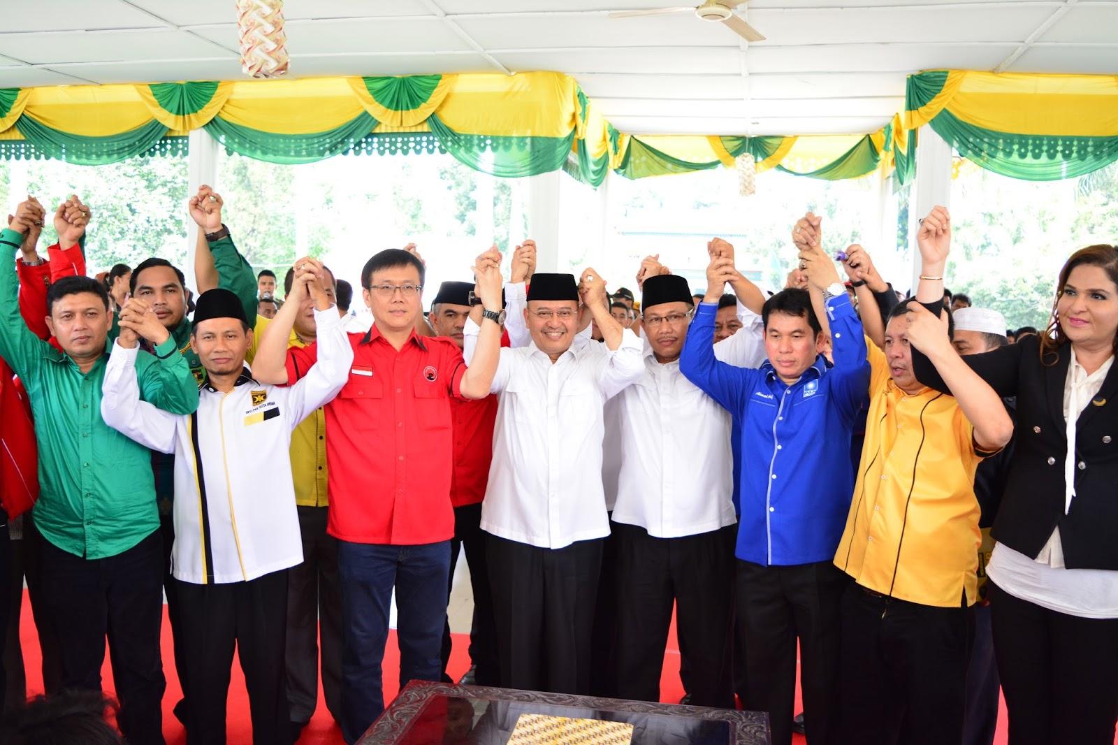 Partai Pendukung Deklarasikan Pasangan Dzulmi Eldin Akhyar Produk Ukm Bumn Keset Our House Nasution