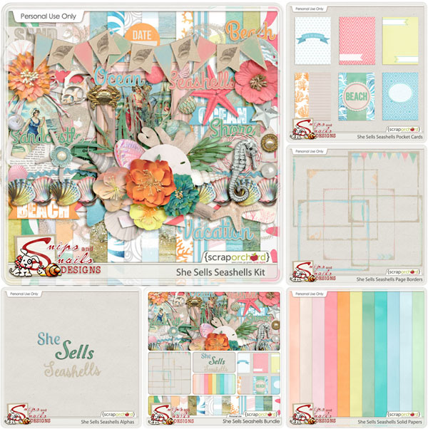 She Sells Seashells Collection by Snips and Snails Designs