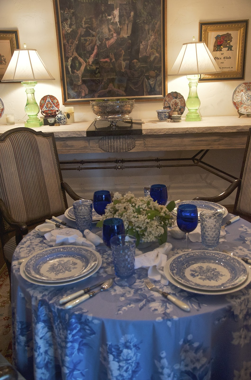 Perfect I Ve Been Eager To Play With This Ralph Lauren Tablecloth A Recent Find On  Ebay Entertaining Women Blue On 2017. Ralph Lauren Tablecloth ...