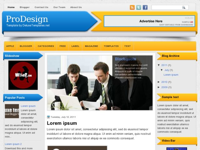 ProDesign Blogger Template