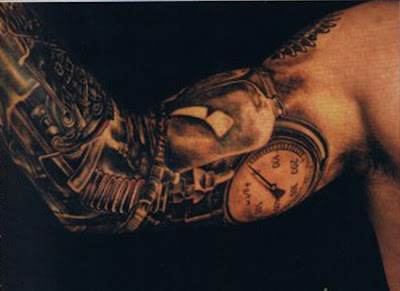 Dark Biomechanical Tattoo