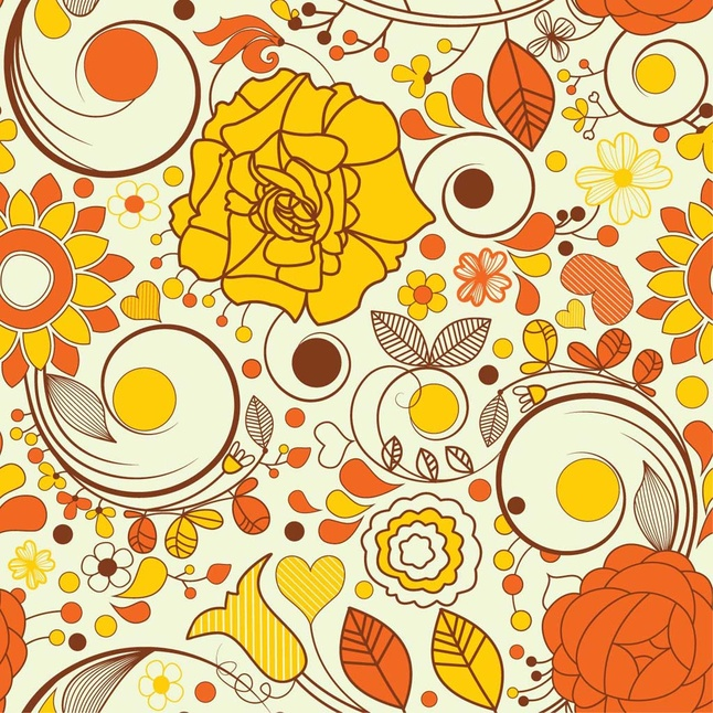 12 Free Floral Flowers Vector Patterns Graphics
