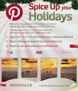Spice Up Your Holidays Pinterest Contest via Asheville