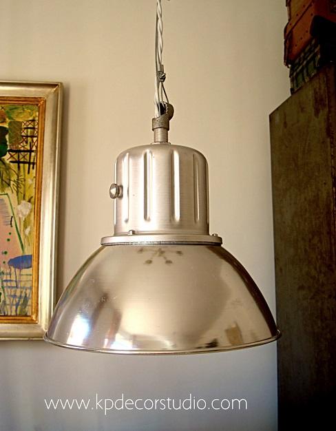 Venta de lamparas de techo originales de aluminio recableadas estilo industrial